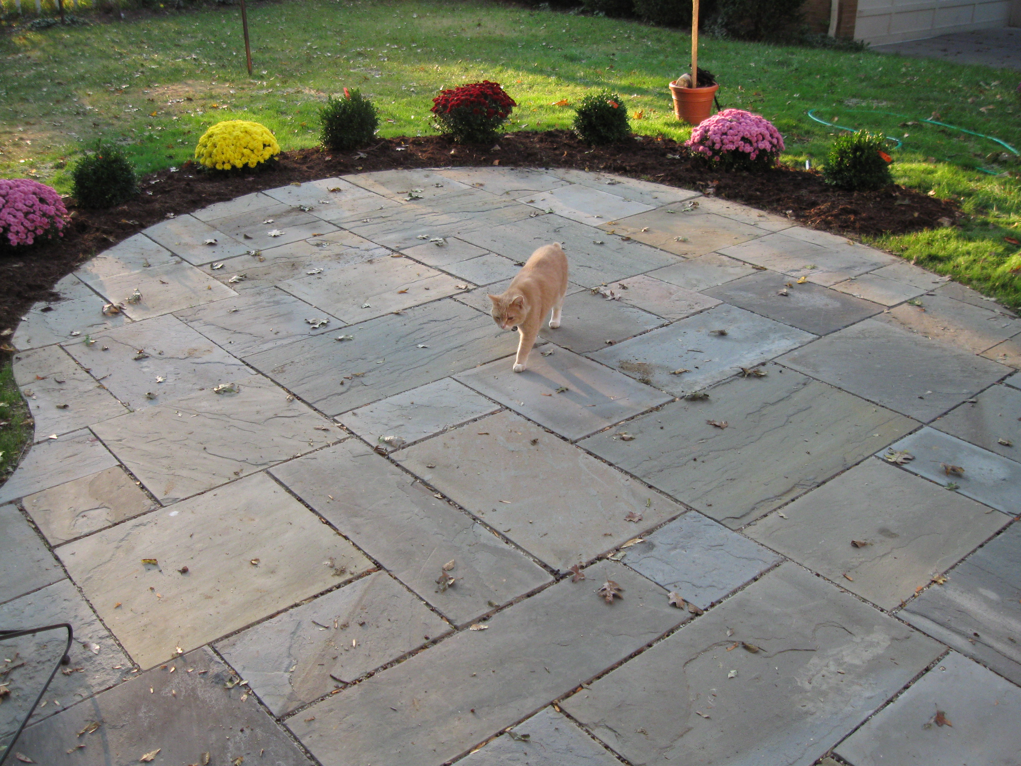 Blue stone patio and landscaping located in Rheinbeck NY